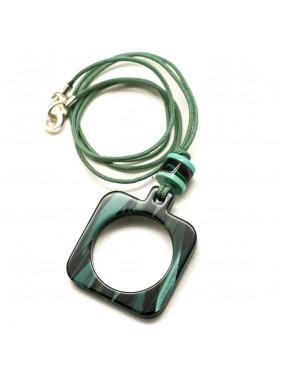 PendantGlasses Green Marbled GC6