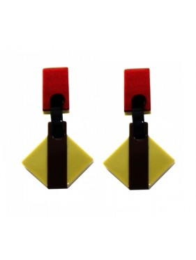 Earrings Rhombus ROMP2CAL