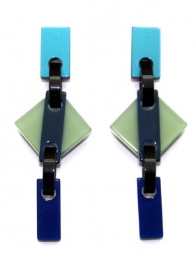 Earrings Rhombus ROMP3FR