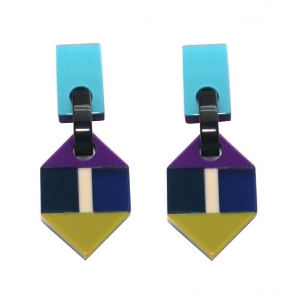 Earrings Rhombus ROMP4VER